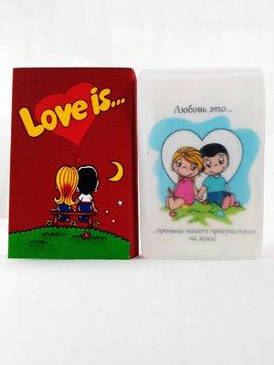 Мило ручної роботи в коробочці Love is червоне (90 г) | 2931153