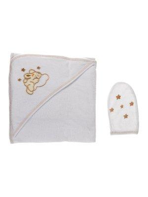 Комплект для купання: рушник-куточок і рукавичка | 2930137