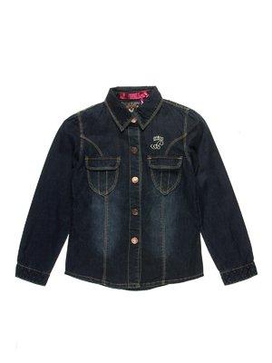 Сорочка темно-синя джинсова | 2931941