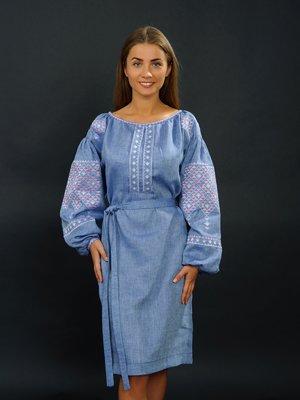 Сукня синя з вишивкою | 2875059