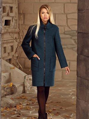 Пальто смарагдового кольору | 2045322