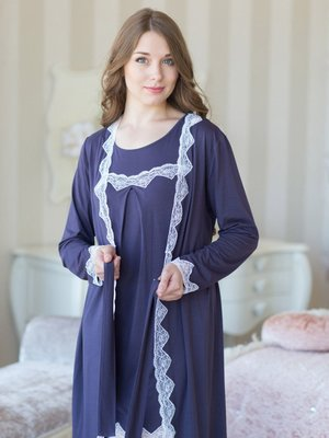 Рубашка ночная фиолетовая | 2937458