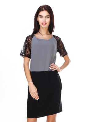 Сукня чорно-сіра | 2932211