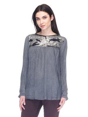Блуза серая с пайетками | 2932239