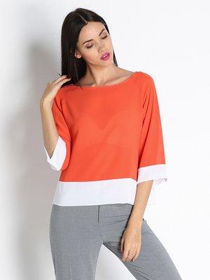 Блуза оранжево-белая | 2941527