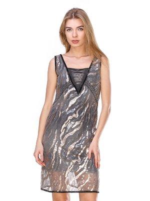 Сукня сіра з паєтками | 2932230