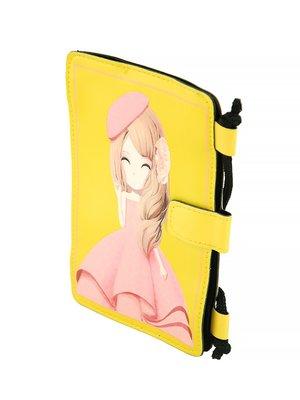 Гаманець-сумка жовта в принт | 2942432