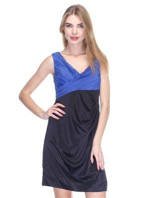 Платье черно-синее | 2946774
