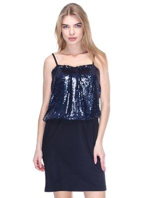 Платье черно-синее | 2946777