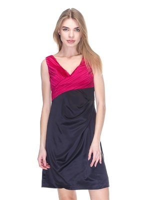 Платье черно-розовое | 2946773