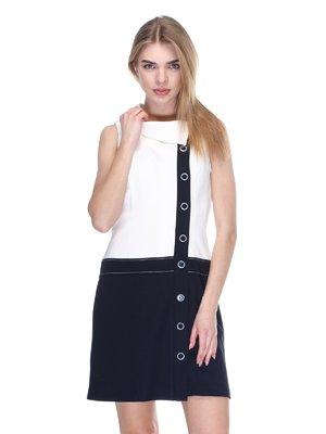 Платье бело-черное   2946784
