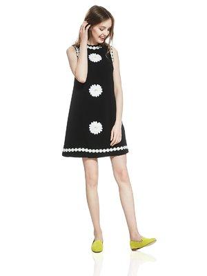 Платье черное с декором | 2950467