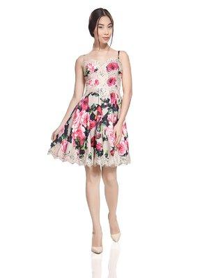 Сарафан светло-розовый с цветочным принтом | 2950657