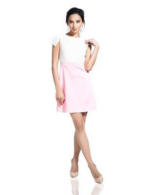Платье розово-белое | 2950696