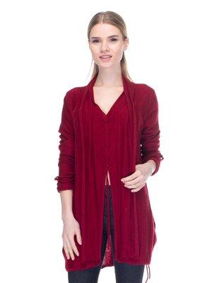 Пуловер бордовий | 2946740