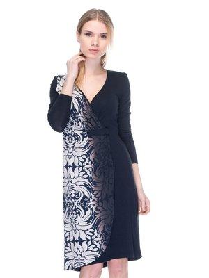 Сукня чорна з принтом | 2946814