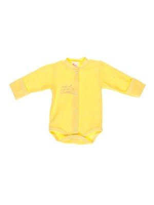 Боди желтое махровое | 2954741
