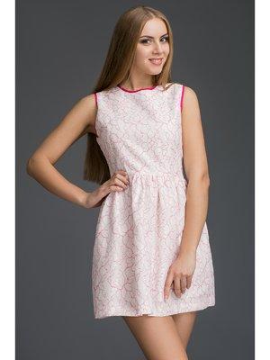 Платье белое с принтом | 2948557