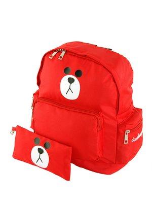 Рюкзак червоний «Ведмедик» з пеналом | 2959541