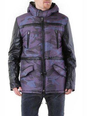 Куртка серая с принтом | 2962179