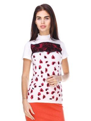 Блуза белая в принт | 2317026