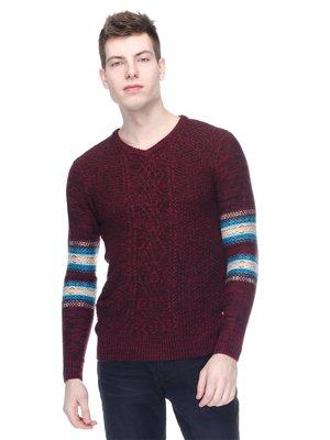 Пуловер бордовий | 2961509