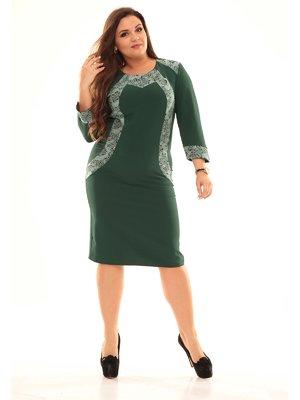 Сукня зелена з візерунком | 2592985