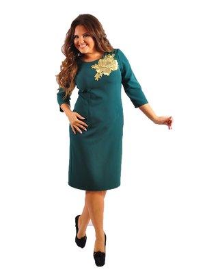Сукня зелена з декором | 2843860