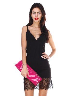 Сукня чорна з мереживом | 2959618