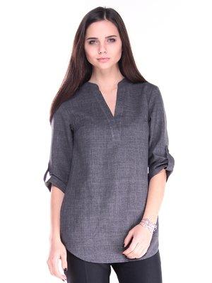 Блуза графитового цвета   2917811