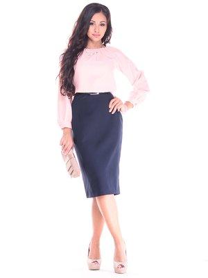 Платье персиково-синего цвета | 2917853