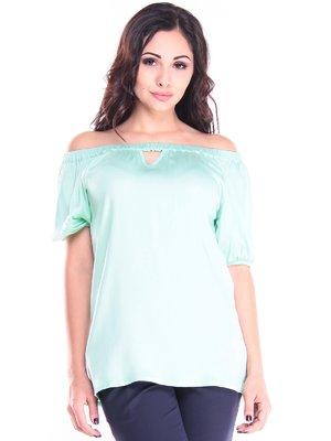 Блуза ніжно-зелена | 2917899