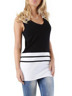 Блуза черно-белая | 2985025