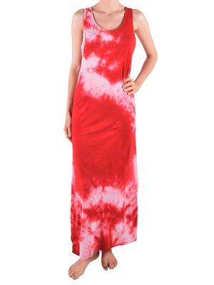 Сукня червона у принт | 2985459
