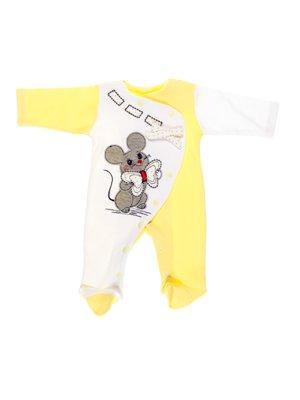 Чоловічок жовто-білий з аплікацією   2987636
