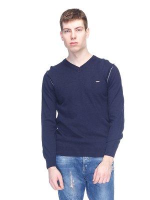 Пуловер синій | 2813174