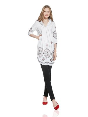 Туника белая с вышивкой | 2950223