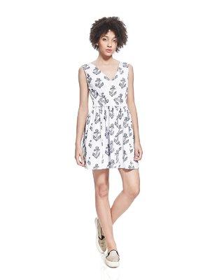 Платье белое с принтом | 2950267