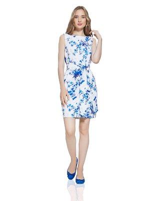 Сукня біла з квітковим принтом | 2950364