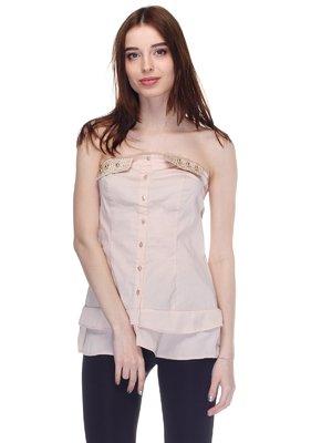 Блуза бежево-рожева | 2970730