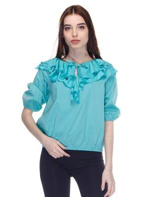 Блуза голубая   2645148