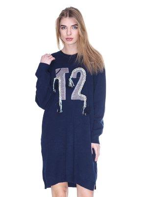 Платье темно-синее | 2927226