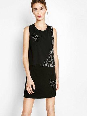 Платье черное в принт | 2933185