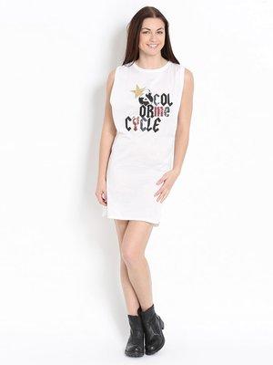 Платье белое с принтом | 2321790