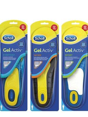 Набор гелевых стелек Scholl GelActiv (3 шт.) | 3007775