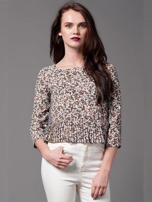 Блуза белая с принтом | 3002444