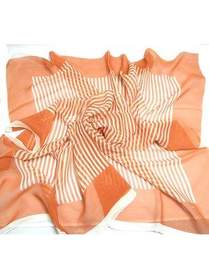 Хустка помаранчева в смужку | 2995597