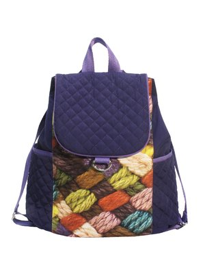 Рюкзак фиолетовый с принтом | 2839773