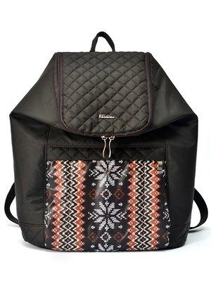 Рюкзак коричневый с орнаментом | 2913151