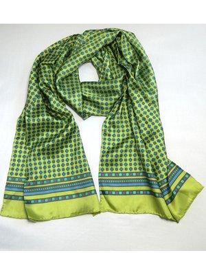 Шарф зеленый в мелкий принт | 3018652